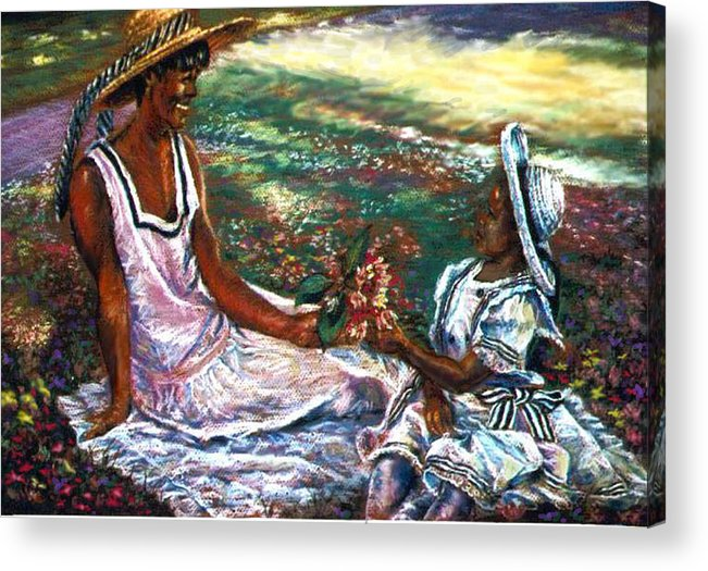 Children Acrylic Print featuring the painting The Gift by Tommy Winn