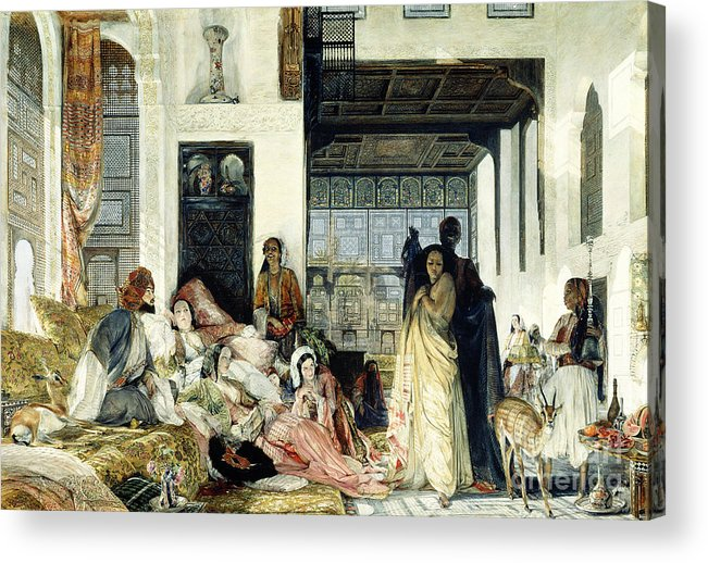 The Acrylic Print featuring the painting The Harem by John Frederick Lewis