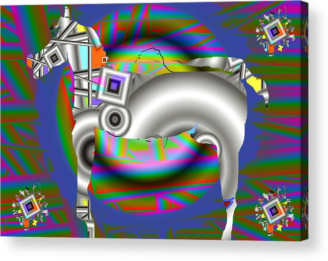 Digital Art Acrylic Print featuring the print The Horse by Yucel Donmez