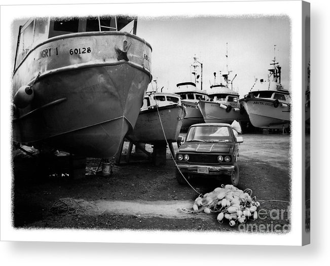 Alaska Acrylic Print featuring the photograph The Real Alaska - Dry Dock 1 by Pete Hellmann