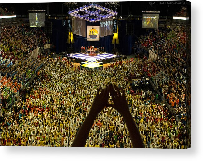Thon Acrylic Print featuring the photograph Thon Diamonds Up by Michael Misciagno