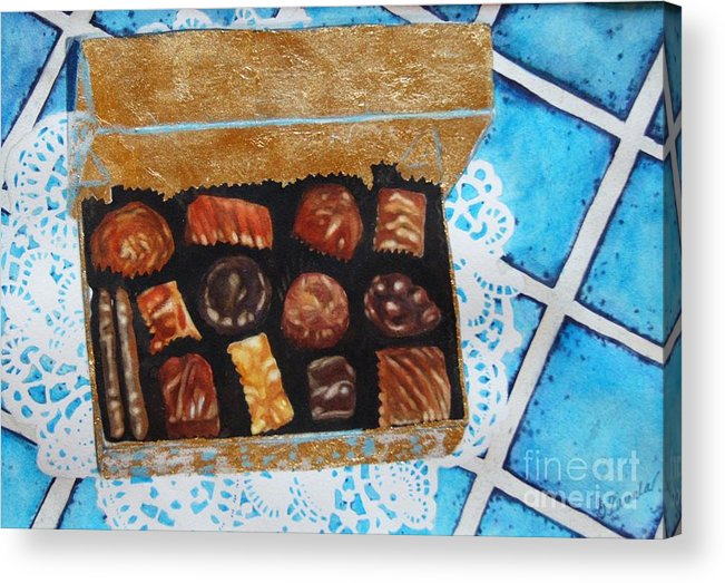 Candy Acrylic Print featuring the painting Treasure Chest by Gail Zavala