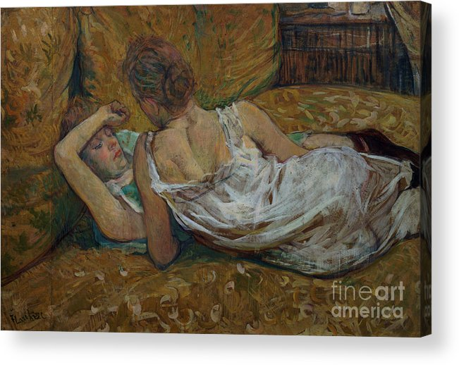 Two Acrylic Print featuring the painting Two Friends by Henri de Toulouse-Lautrec