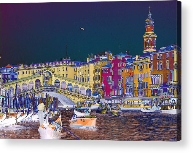 Venice Acrylic Print featuring the photograph Venice Canal by Charles Ridgway
