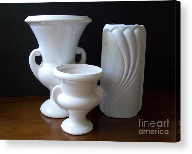 Ceramics Acrylic Print featuring the photograph Vintage Collection by Marsha Heiken