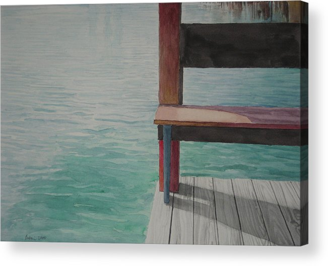 Waterscape Acrylic Print featuring the drawing Water15 by Jeffrey Babine