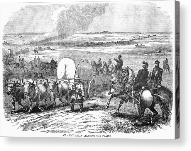 1858 Acrylic Print featuring the photograph Westward Expansion, 1858 by Granger