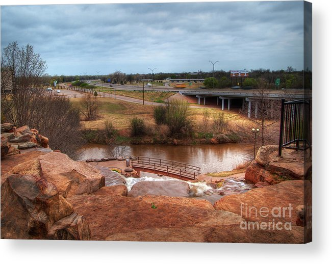 Landscape Acrylic Print featuring the photograph Wichita Falls View by Fred Lassmann