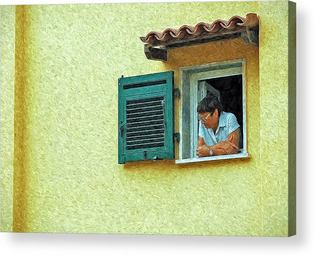 Tuscan Acrylic Print featuring the photograph Window To The World by Allen Beatty