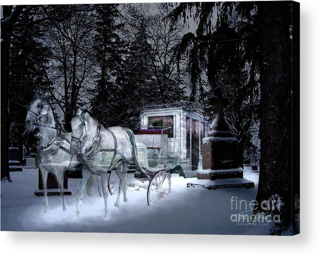 Paranormal Acrylic Print featuring the photograph Winter Departure  by Tom Straub