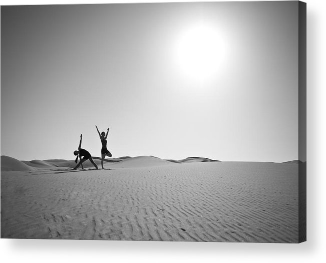 Yoga Acrylic Print featuring the photograph Yoga Landscape by Scott Sawyer