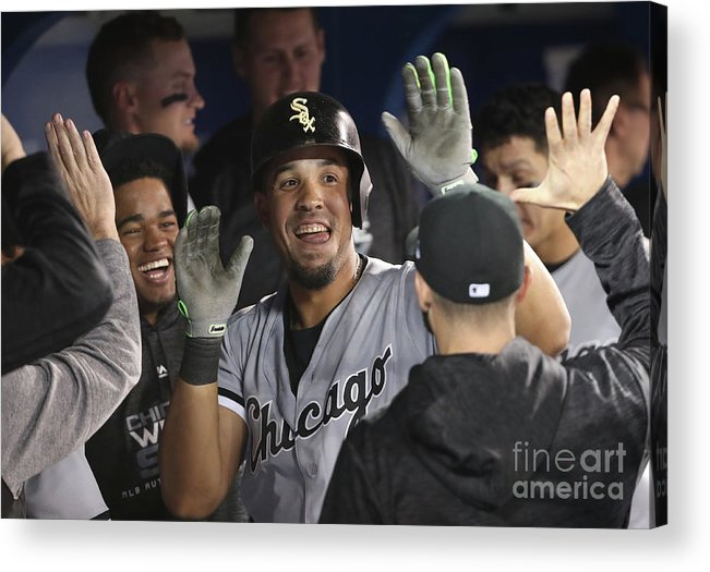 People Acrylic Print featuring the photograph Chicago White Sox V Toronto Blue Jays by Tom Szczerbowski