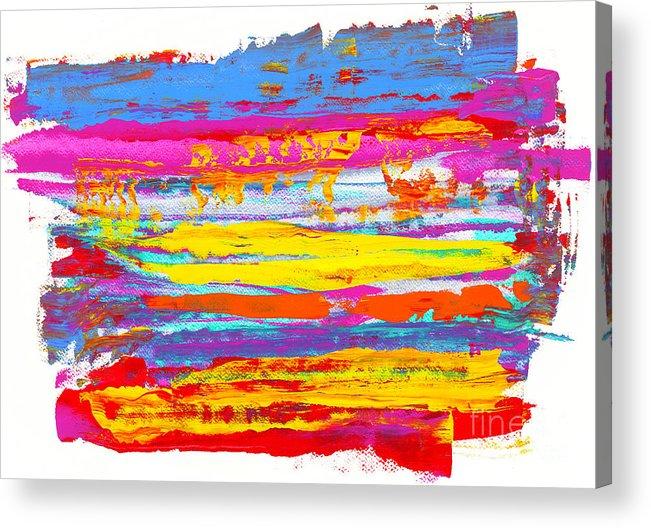 Sunrise Acrylic Print featuring the painting Tequila Sunrise by Bjorn Sjogren