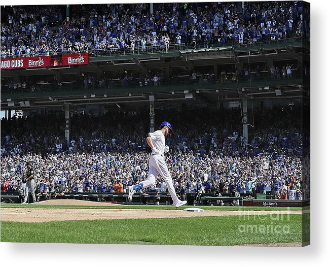 People Acrylic Print featuring the photograph Pittsburgh Pirates V Chicago Cubs 12 by Jonathan Daniel