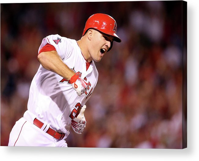 Ninth Inning Acrylic Print featuring the photograph Boston Red Sox V Los Angeles Angels Of 2 by Stephen Dunn