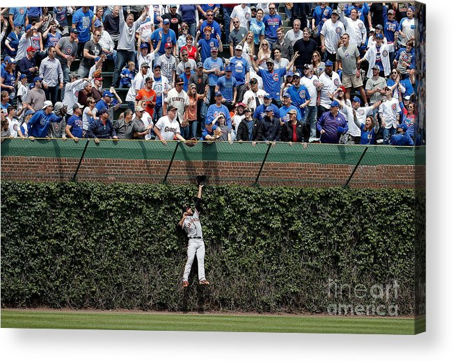 People Acrylic Print featuring the photograph San Francisco Giants V Chicago Cubs 2 by Jon Durr