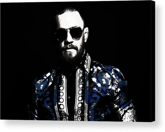 Conor Mcgregor Acrylic Print featuring the mixed media Conor Mcgregor 4j by Brian Reaves