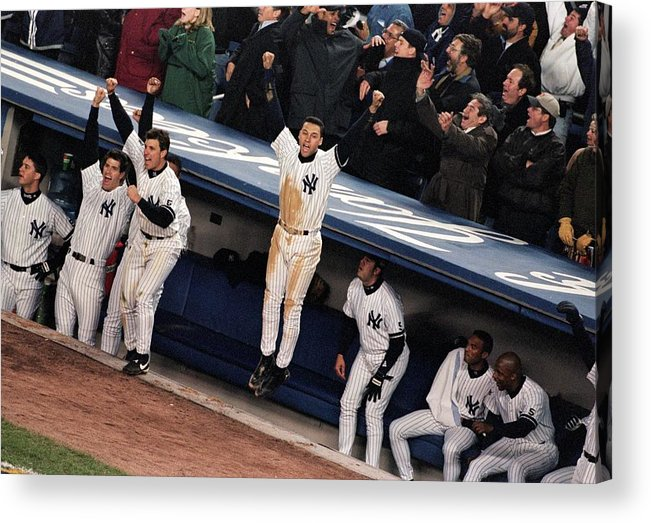 Celebration Acrylic Print featuring the photograph Derek Jeter 2 by Jamie Squire