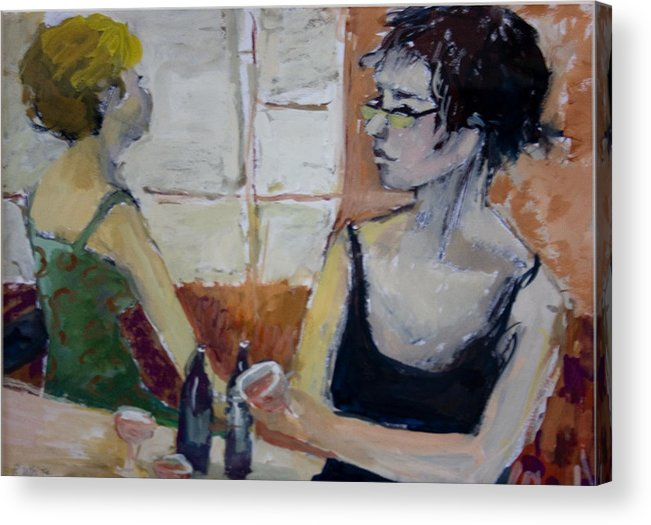 Figures Acrylic Print featuring the painting 2 Figures 3 by Pat White