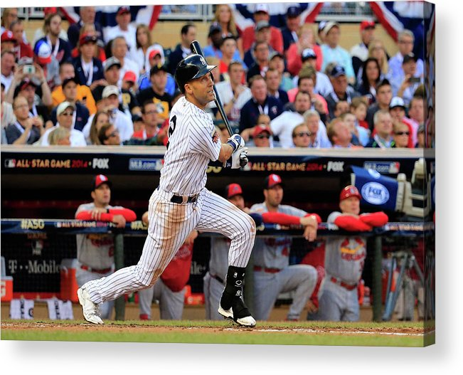 American League Baseball Acrylic Print featuring the photograph Derek Jeter by Rob Carr