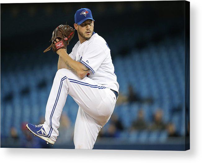 Second Inning Acrylic Print featuring the photograph Jay Rogers by Tom Szczerbowski