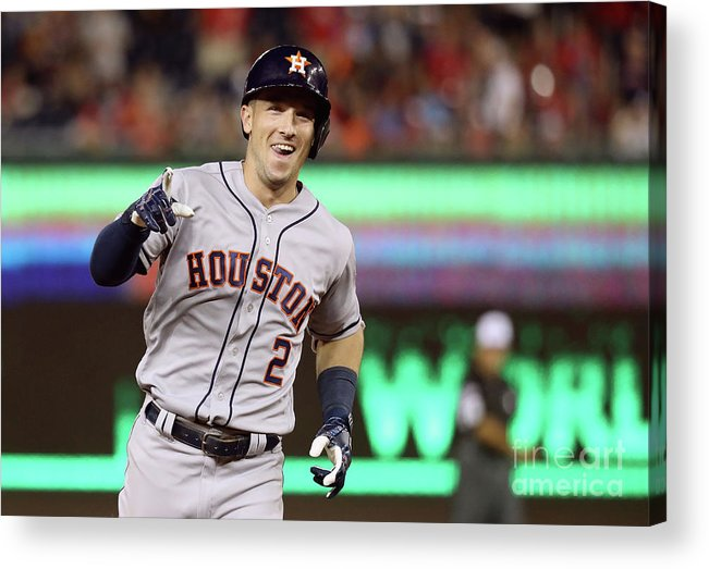Alex Bregman Acrylic Print featuring the photograph Alex Bregman by Rob Carr