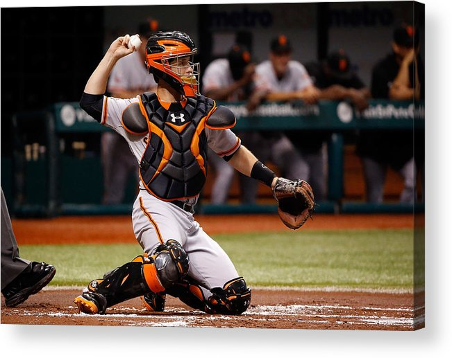 Baseball Catcher Acrylic Print featuring the photograph Buster Posey by J. Meric