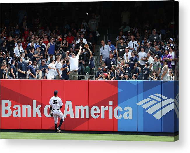 People Acrylic Print featuring the photograph Domingo Santana And Aaron Judge by Al Bello