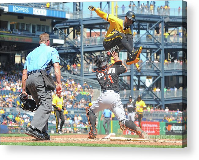 Event Acrylic Print featuring the photograph J. T. Realmuto by Justin Berl