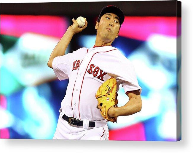 American League Baseball Acrylic Print featuring the photograph Koji Uehara by Elsa