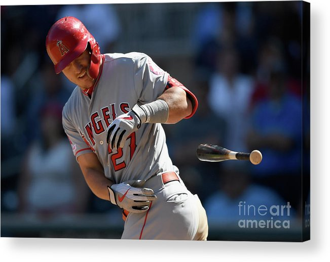 Three Quarter Length Acrylic Print featuring the photograph Mike Trout by Hannah Foslien