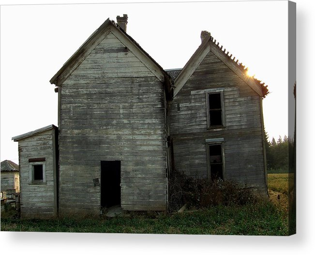 Derelict Acrylic Print featuring the photograph There Was A Crooked House by Everett Bowers