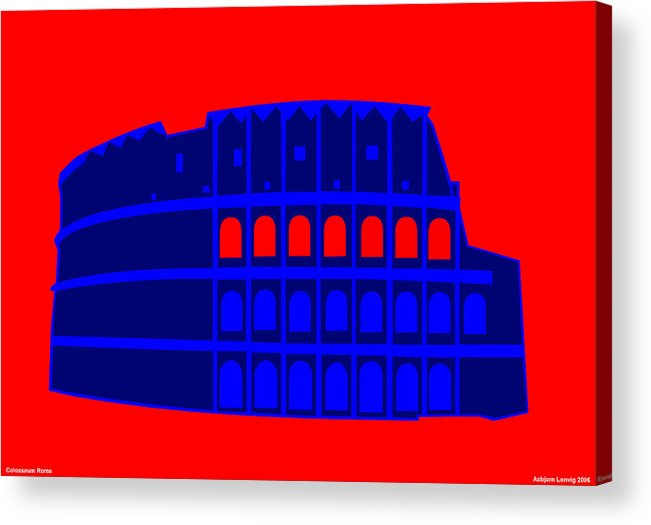 Colosseum Acrylic Print featuring the digital art Colosseum by Asbjorn Lonvig