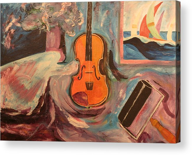 Acrylic Print featuring the painting Fiddle by Biagio Civale