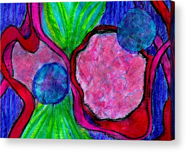 Creative Passages Acrylic Print featuring the mixed media Flow by Cassandra Donnelly