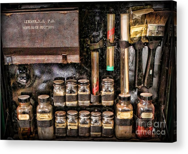 Csi Acrylic Print featuring the photograph 1800's Fingerprint Kit II by Lee Dos Santos