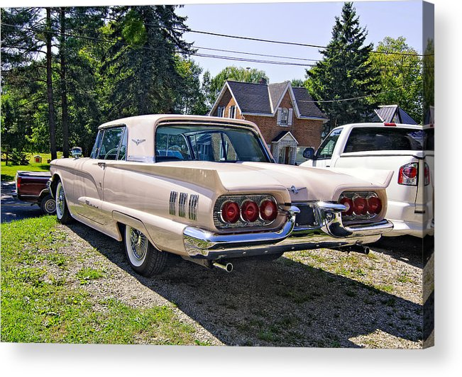 Car Acrylic Print featuring the photograph 1960 Thunderbird 2 by Steve Harrington