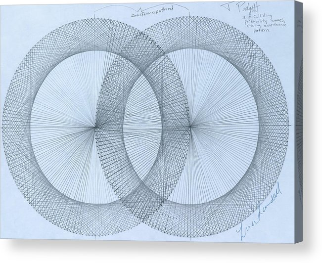 Magnet Acrylic Print featuring the drawing  Magnetism by Jason Padgett
