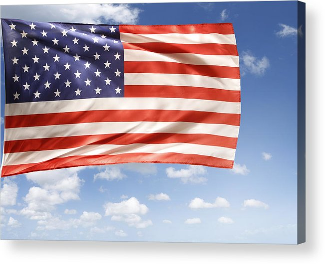 Independence Day Acrylic Print featuring the photograph American Flag by Les Cunliffe
