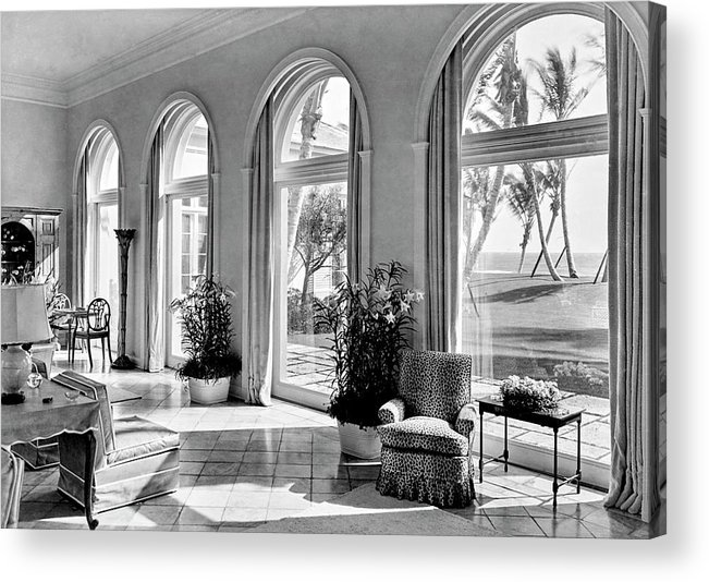 Palm Beach Acrylic Print featuring the photograph A House In Palm Beach by Samuel H. Gottscho