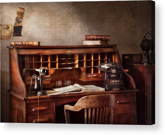 Accountant Acrylic Print featuring the photograph Accountant - Accounting Firm by Mike Savad