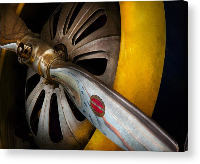 Hdr Acrylic Print featuring the photograph Air - Pilot - Ready For Take Off by Mike Savad