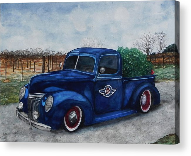 Truck Acrylic Print featuring the painting Baxter Truck by Stacey Pilkington-Smith