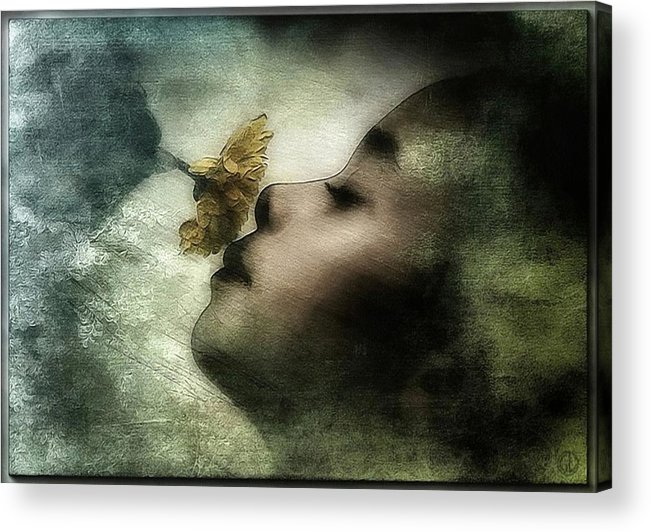 Girl Acrylic Print featuring the digital art Carried Away By A Scent by Gun Legler