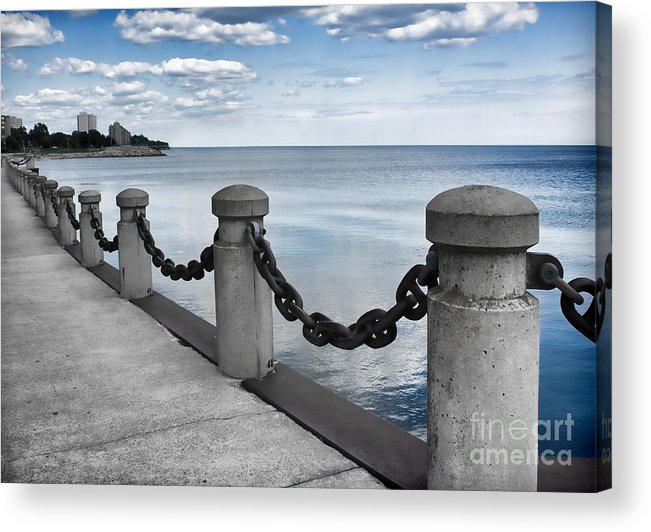 Chain Link Acrylic Print featuring the photograph Chain Linked by Barbara McMahon