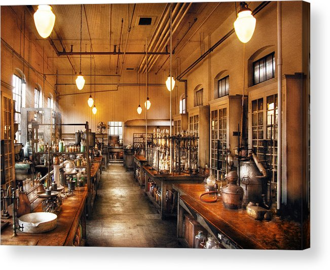 Savad Acrylic Print featuring the photograph Chemist - The Chem Lab by Mike Savad