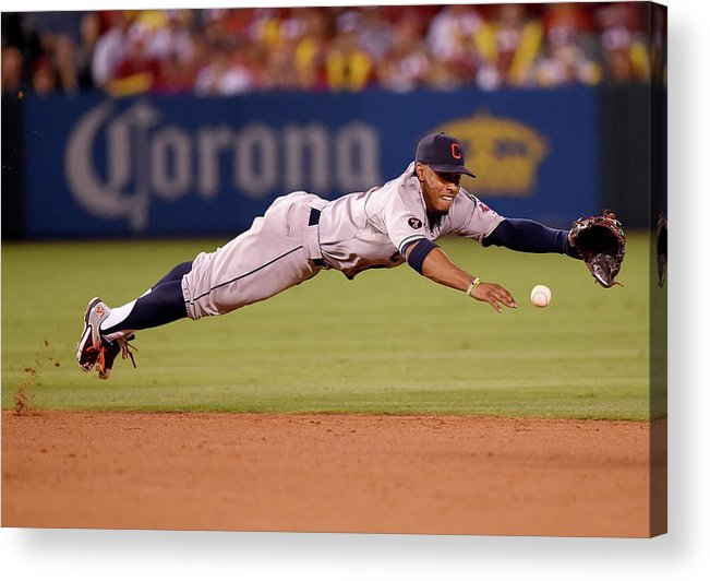 People Acrylic Print featuring the photograph Cleveland Indians V Los Angeles Angels by Harry How