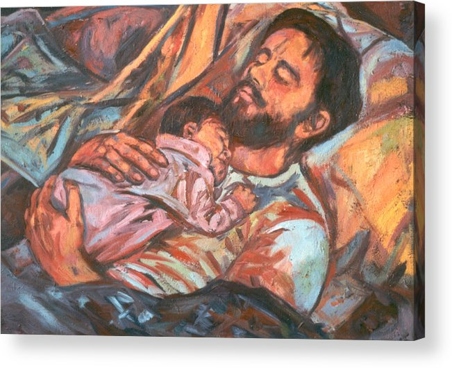Figure Acrylic Print featuring the painting Clyde And Alan by Kendall Kessler