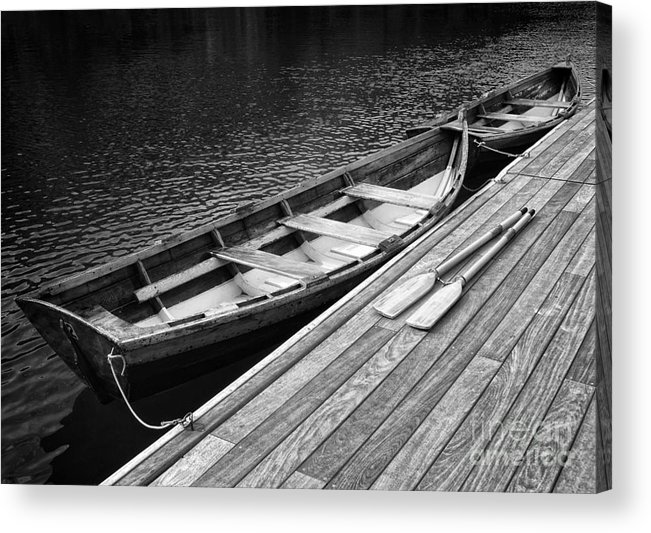 Boats Acrylic Print featuring the photograph Docked by Claudia Kuhn