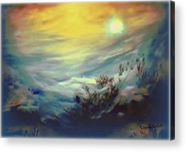 Dreamscape Acrylic Print featuring the mixed media Dreaming by YoMamaBird Rhonda